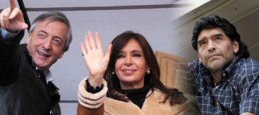 Los Kirchner quieren una estatua de Maradona en La Noria