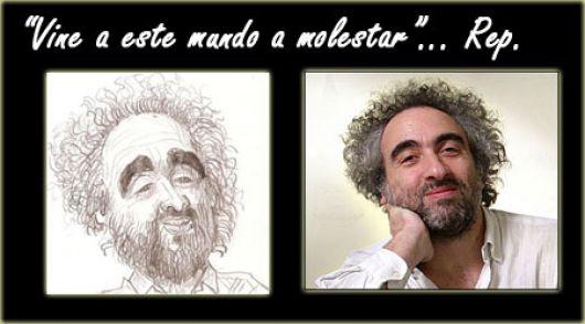 El reconocido humorista gráfico de Pagina 12, Miguel Rep en Monte Caseros