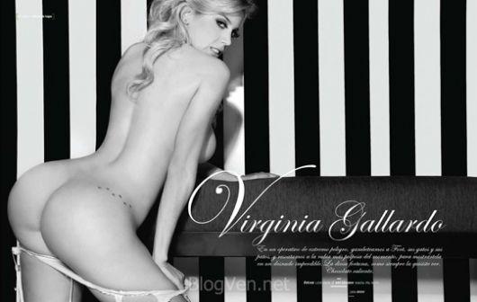 """Virginia Gallardo en """"Playboy"""" el """"chocolate caliente"""""""