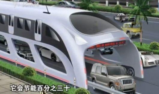 China proyecta ómnibus 3D para que pasen autos por debajo