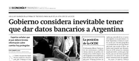 """Uruguay considera """"inevitable"""" dar a la Argentina la información bancaria"""