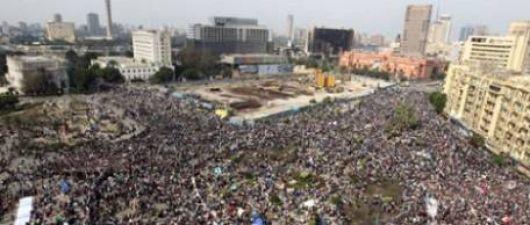 """Comenzó la """"marcha del millón"""" para pedir """"la cabeza"""" de Hosni Mubarak"""