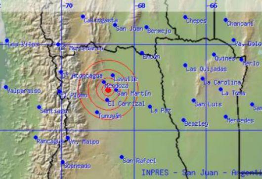 Sismo de 5.4 grados en Mendoza