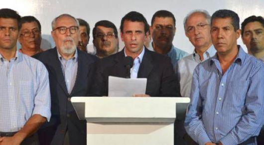 """""""Es un fraude"""", denunció Capriles"""