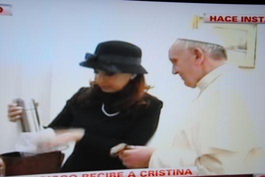 Encuentro cálido entre el Papa y Cristina Fernández