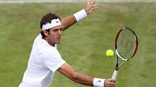 Del Potro ganó y avanza a paso firme en Wimbledon