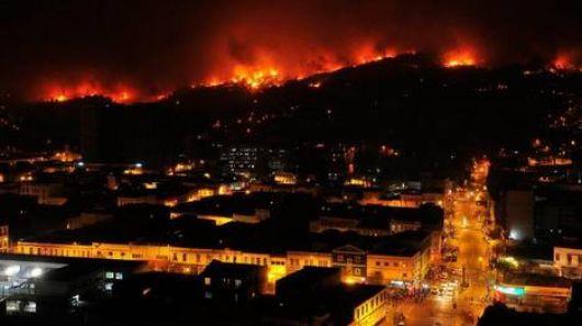 Al menos 16 muertos por el gigantesco incendio en Chile