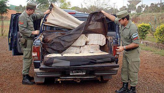 Detienen en Formosa a gendarme correntino con 150 kilos de cocaína