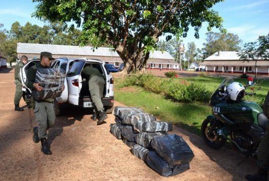 Gendarmería secuestró 700 kilos de marihuana este fin de semana