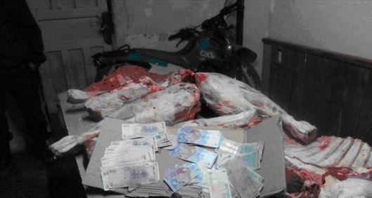 Detuvieron a dos hombres con 400 kilos de carne faenada