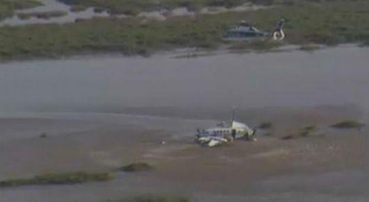 Extraño accidente del avión caído en Carmelo