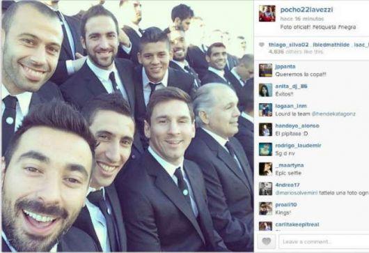 La selfie mundialista de la Selección argentina