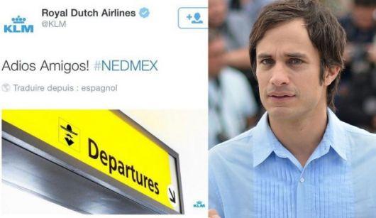 García Bernal, furioso con una aerolínea holandesa