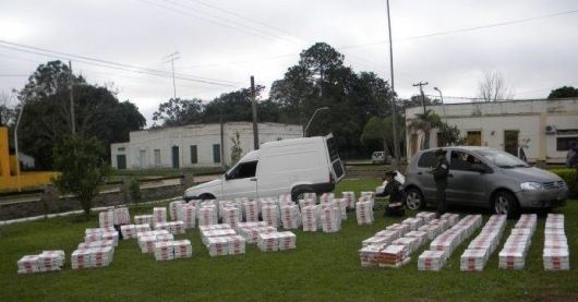 Secuestraron más de 3.500 cartones de cigarrillos de contrabando en Itá Ibaté