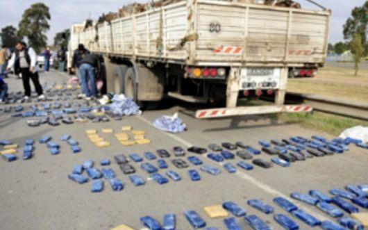 Interceptan camiones con dos toneladas de marihuana