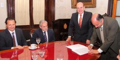 El vicegobernador y el Colegio de Abogados trabajarán en conjunto en nuevas normativas