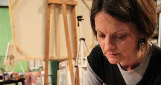 La artista plástica Sívori en el Senado