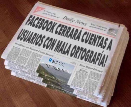 <p>Facebook cerrar&aacute; cuentas a usuarios con mala ortograf&iacute;a</p>