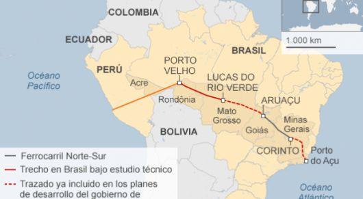 <p>China y Per&uacute; sue&ntilde;an con el tren bioce&aacute;nico que comenzar&aacute; en Brasil</p>