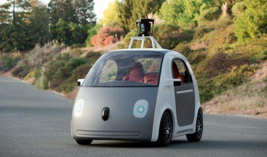 <p>Los autos sin conductor de Google</p>