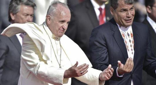 <p>Francisco pidi&oacute; a Correa &quot;respetar las diferencias&quot; y &quot;fomentar el di&aacute;logo&quot;</p>