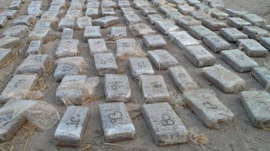 Secuestraron 217 kilos de marihuana
