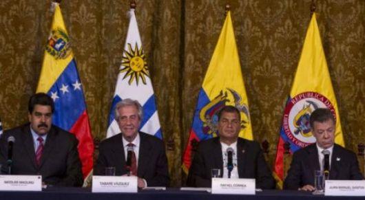 <p>7 puntos que acordaron Maduro y Santos</p>