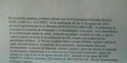 <p>Por la muerte de un joven piden imputar a 4 polic&iacute;as</p>