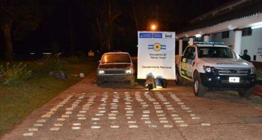 Incautaron 60 kilos de marihuana de un automóvil con destino a Entre Ríos