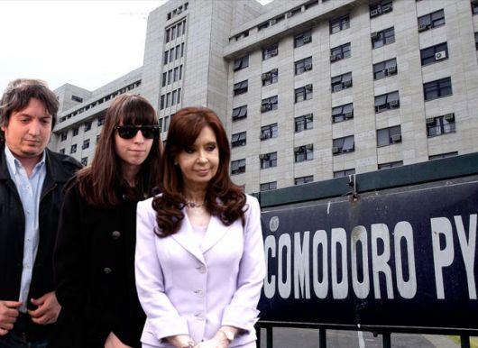 <p>Cristina Kirchner en m&aacute;xima tensi&oacute;n: vuelve con sus hijos a los tribunales y advierte que Florencia puede ir presa</p>