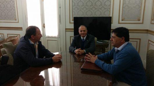 <p>Semhan dialog&oacute; con Galantini y Soto sobre la denuncia por los fondos de Salto Grande</p>