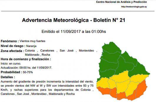 <p>Alerta en Brasil por cicl&oacute;n en Argentina</p>
