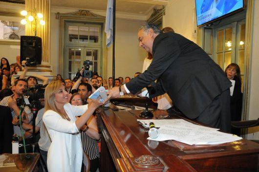 <p>Mancini en la Mesa directiva de Diputados&nbsp;</p>
