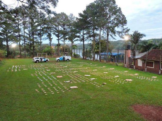 <p>Persecusión y secuestro de casi 500 kilos de marihuana en San Cosme</p>