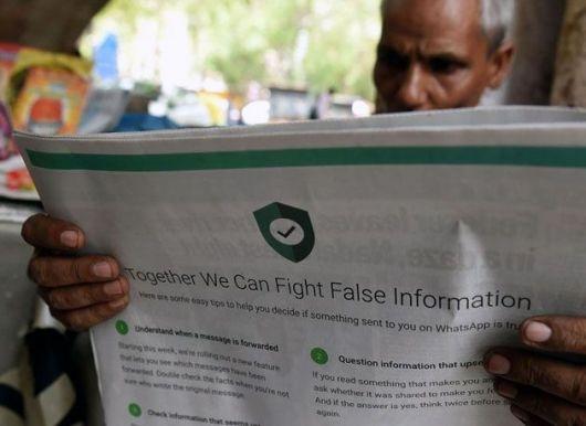<p>WhatsApp contra las noticias falsas</p>