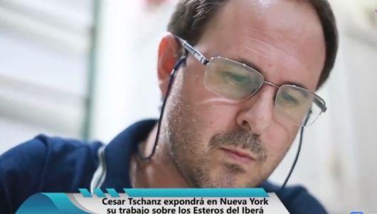 <p>El artista montecasereño Cesar Tschanz expone en Nueva York</p>