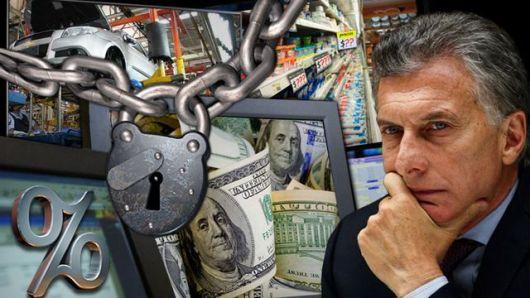 <p>&nbsp;Macri tiene su cepo: no puede usar d&oacute;lares, ni bajar la tasa</p>