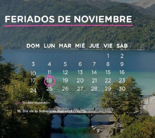 <p>Cuáles son los feriados de noviembre</p>