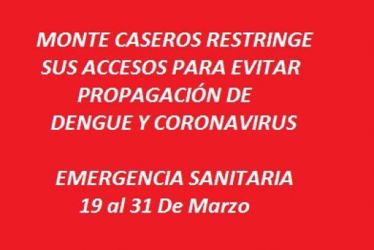 <p>Restringen el acceso a Monte Caseros</p>