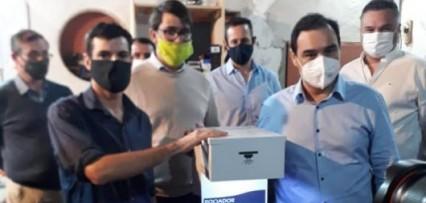"""El gobernador encargó 100 """"Atomizadores Desinfectantes Automáticos"""" para toda la provincia y prometió ayuda econ&"""