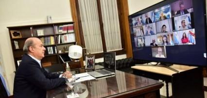 """<p>Canteros mantuvo una charla virtual con sus pares y dijo que: """"el federalismo lo hacemos entre todos""""</p>"""
