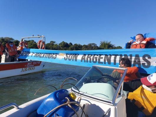<p>Senadores en Isla Apipé luchan por la soberanía</p>
