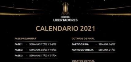 <p>Conmebol confirmó el calendario de la Copa Libertadores 2021</p>