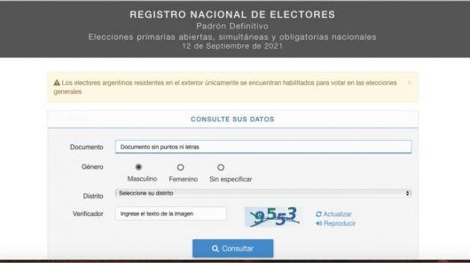 Dónde voto: consultá en el padrón electoral para las elecciones legislativas