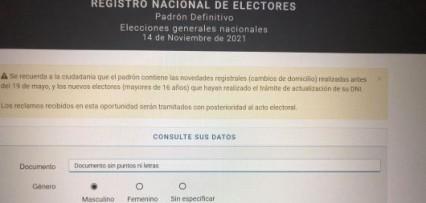 <p>Padrón definitivo para las elecciones del 14 de noviembre</p>